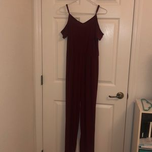 Simply Styled burgundy jumpsuit small